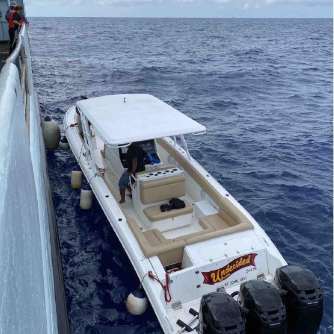 boat delivering a part
